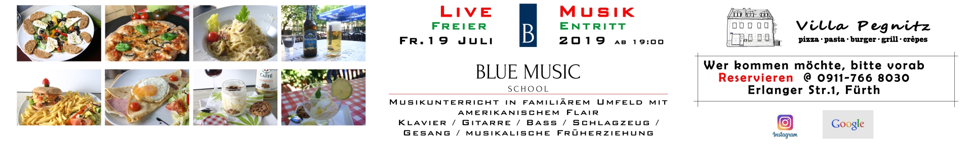 Blue Music School Konzert Villa Pegnitz