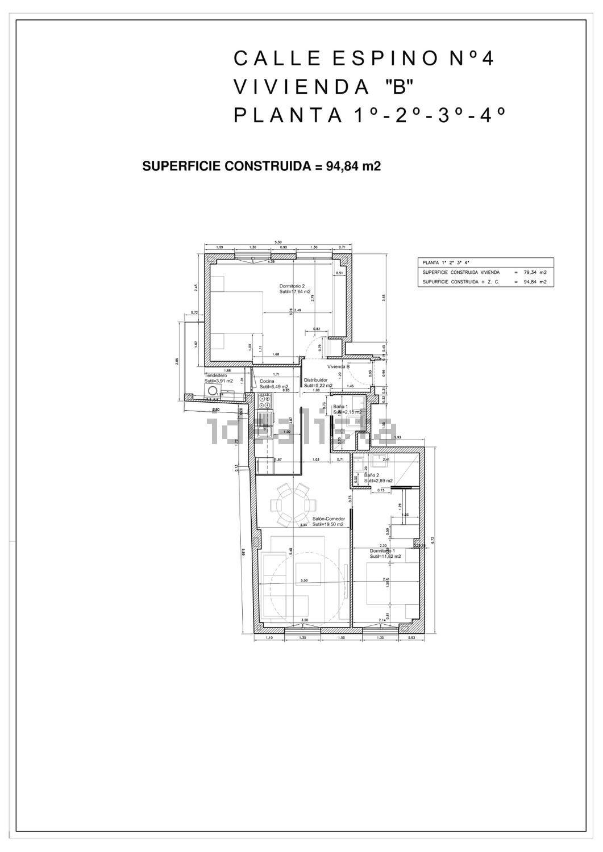 Calle Espino 4 - Superficie Construida: 94,84m2Precio de venta: 475.000 EUROSHabitaciones: 2Baños: 2