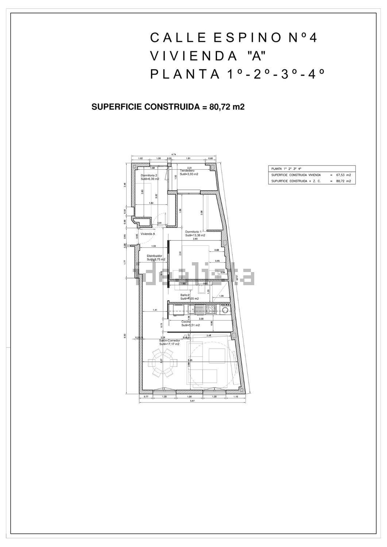 Calle Espino, 4 - 1er Planta Exterior 2 habitaciones1 bañoPrecio venta 415.000 EUROS
