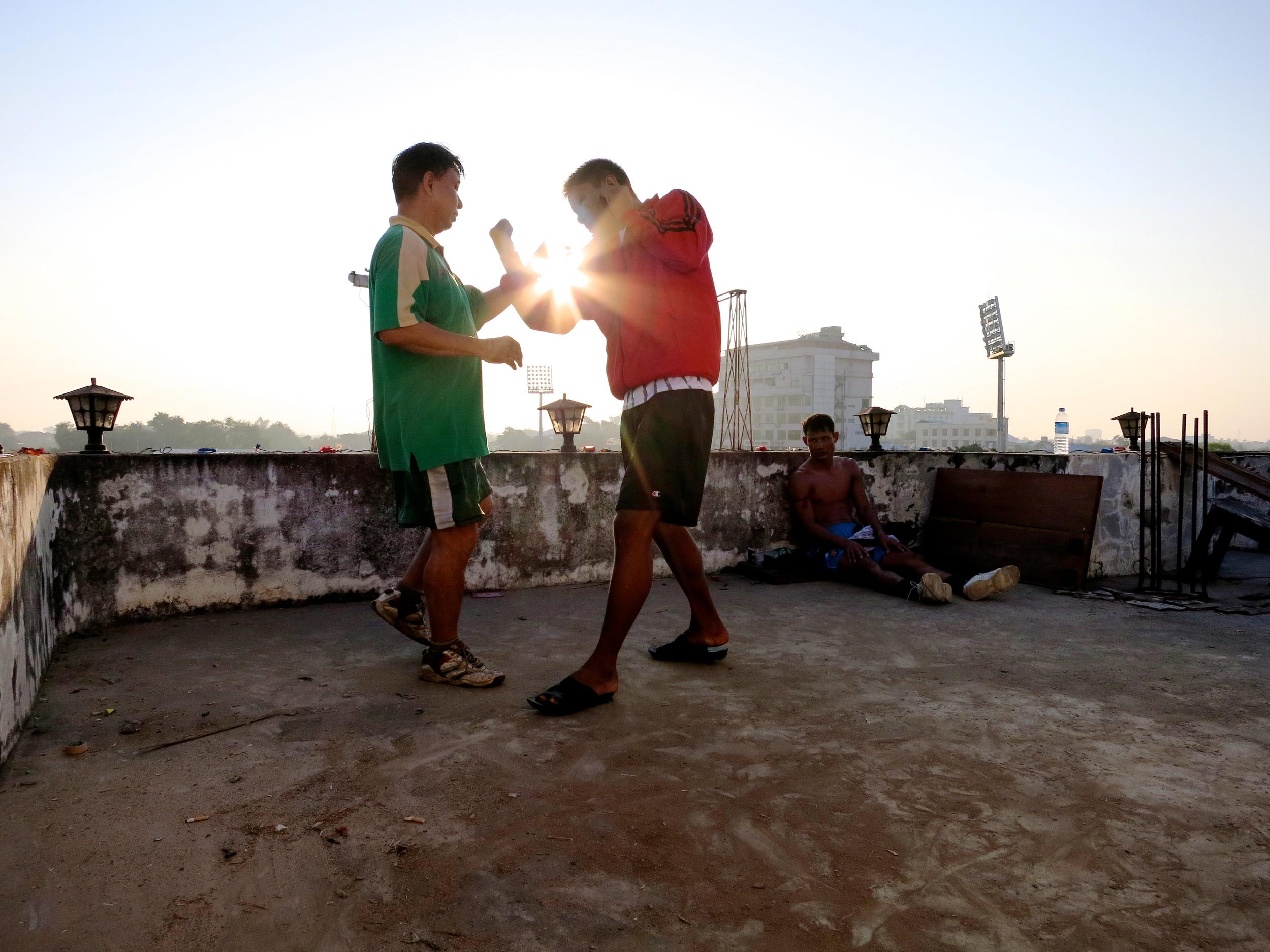 Lethwei Fighters in Yangon.