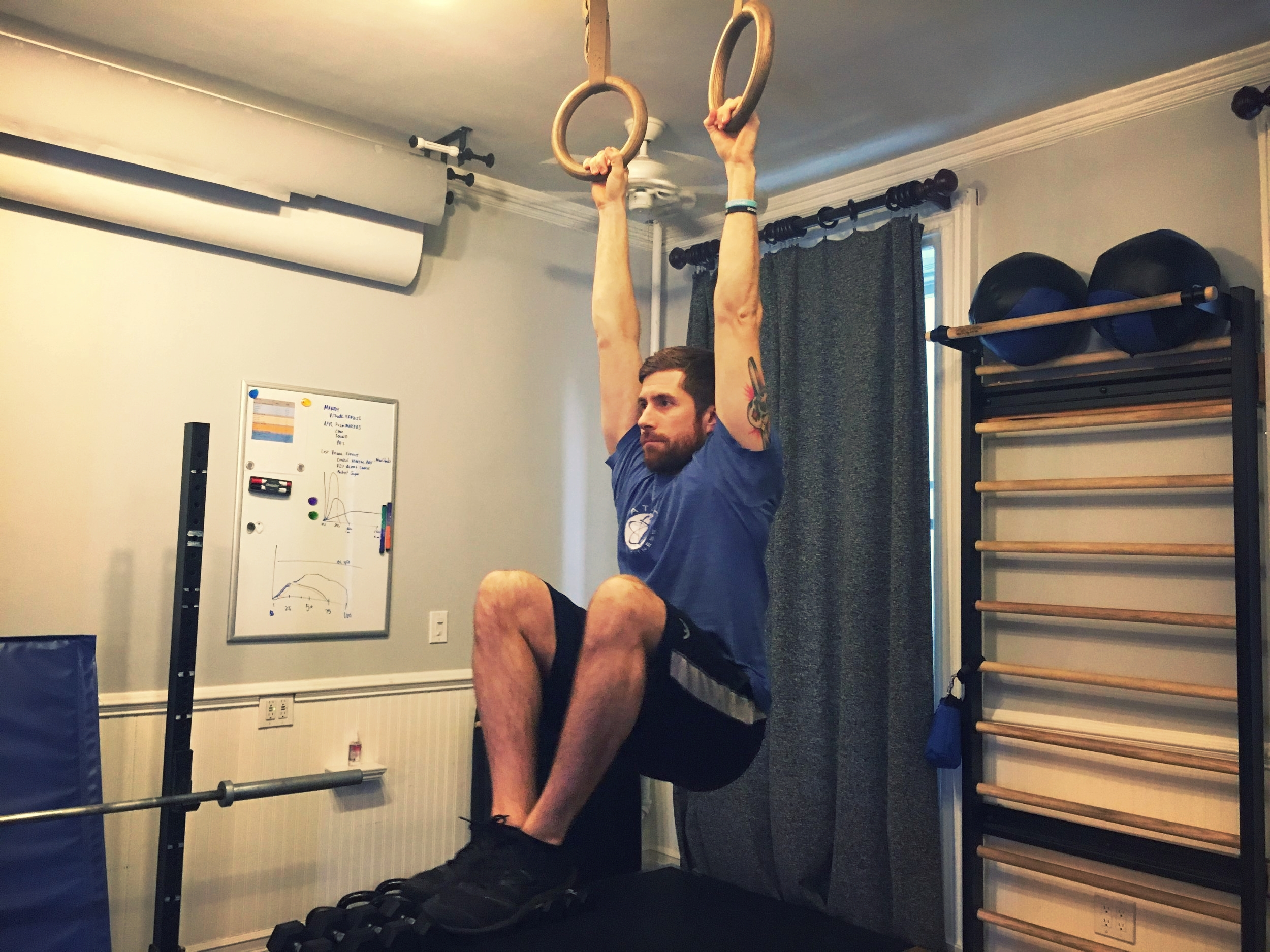 *Hanging Knee Raise: focus on movement into spinal flexion