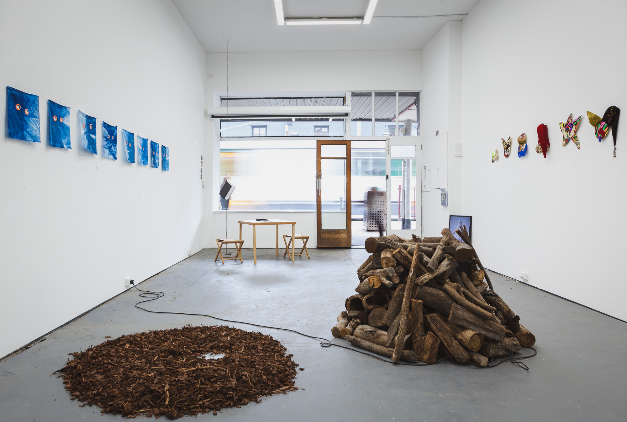 NETHERWORLDS, SEVENTH Gallery. Curated by Amy-Clare McCarthy and Kieran Swann. Installation view. Photograph by Dom Krapski.