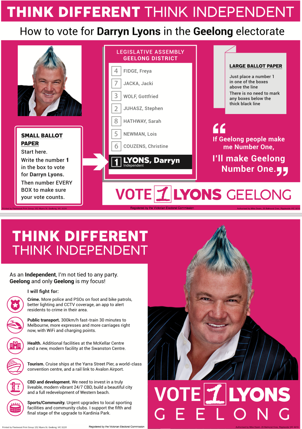 How to Vote - LYONS 1 GEELONG
