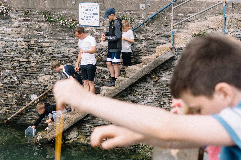 Crabbing, Padstow, Cornwall, England