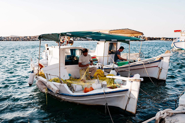 fishermen, paros, greece