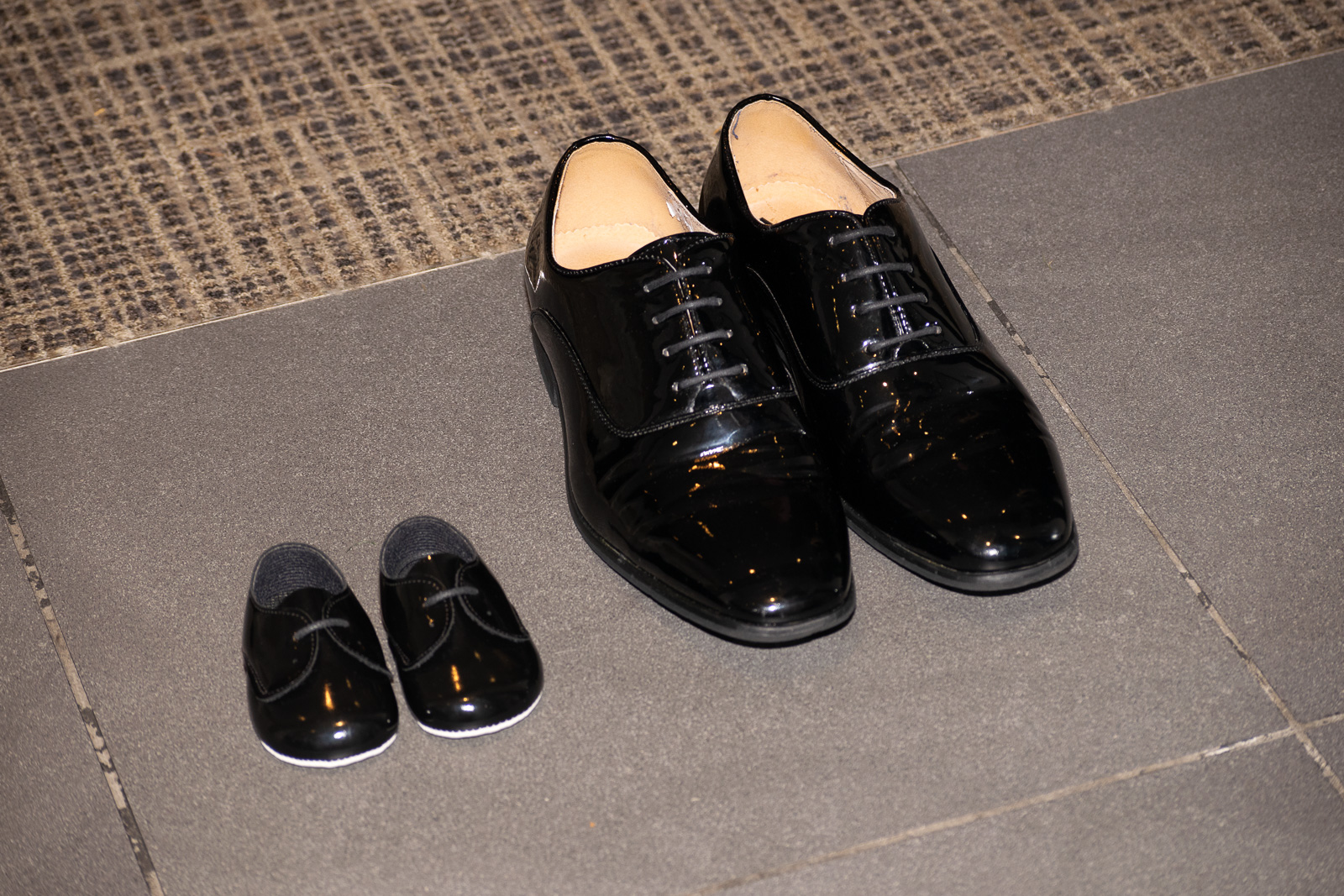 Little shoes to fill - No suit is complete without a smart pair of shiny shoes, even if you are only 8 months old!