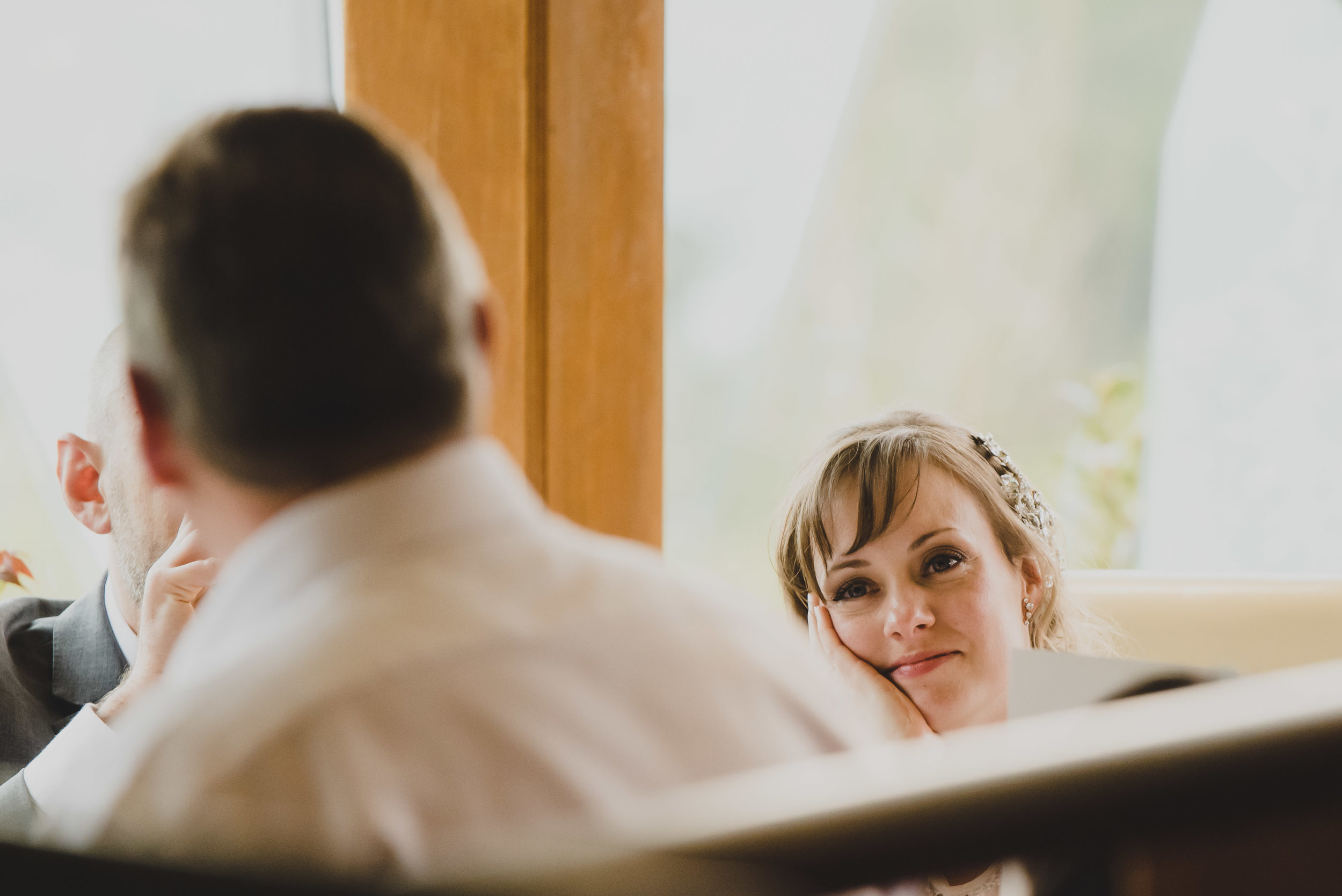 I love the way the Bride is staring at her Dad in this image.
