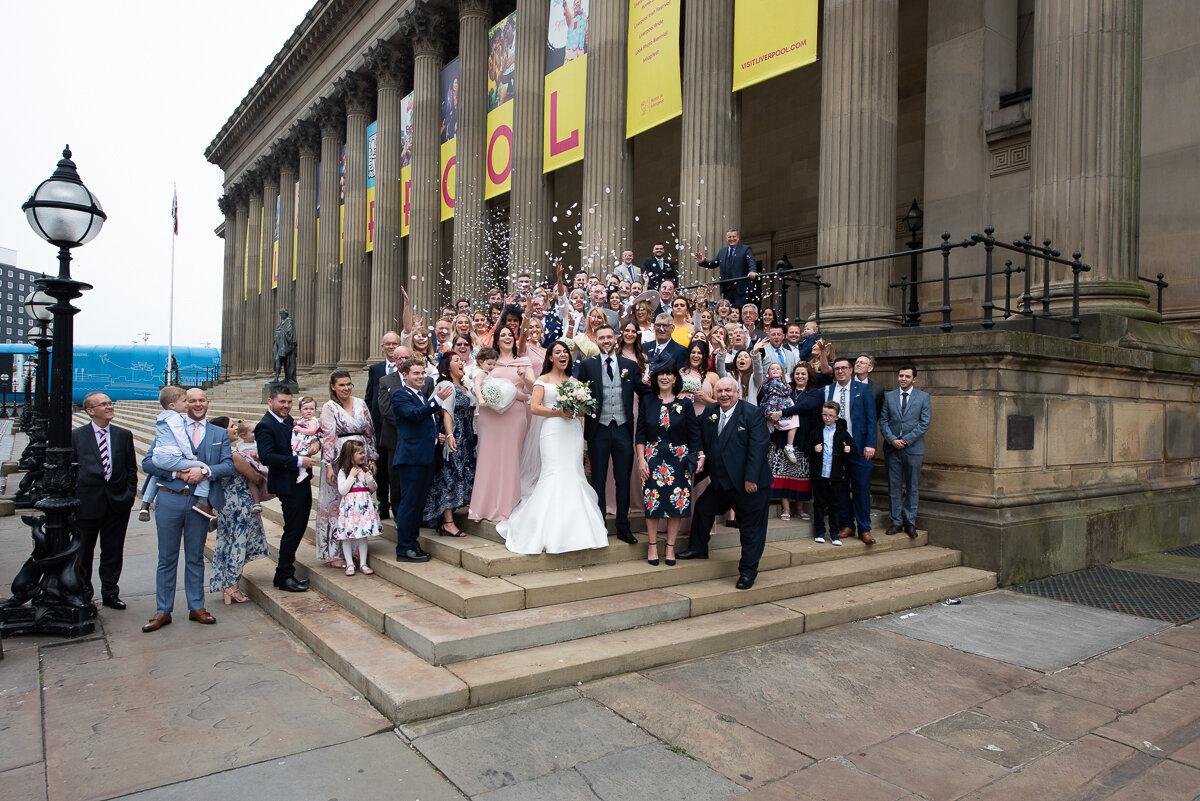 wedding shot_st georges hall_steps
