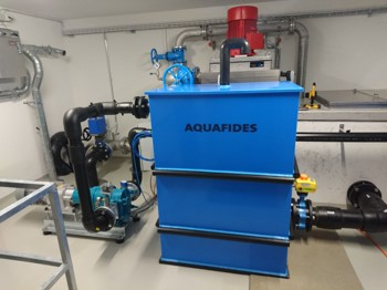 Application: Drinking water  Location: Switzerland  Description: Direct treatment of mountain run-off water without use of any chemical and psychical pre-treatment.