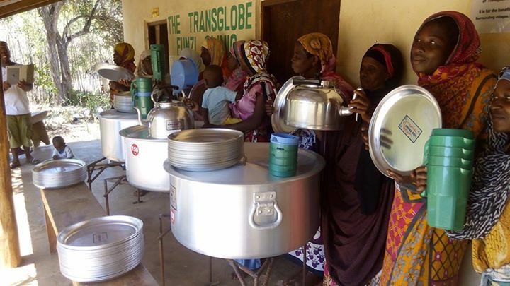 Women started a catering business with a loan for equipment