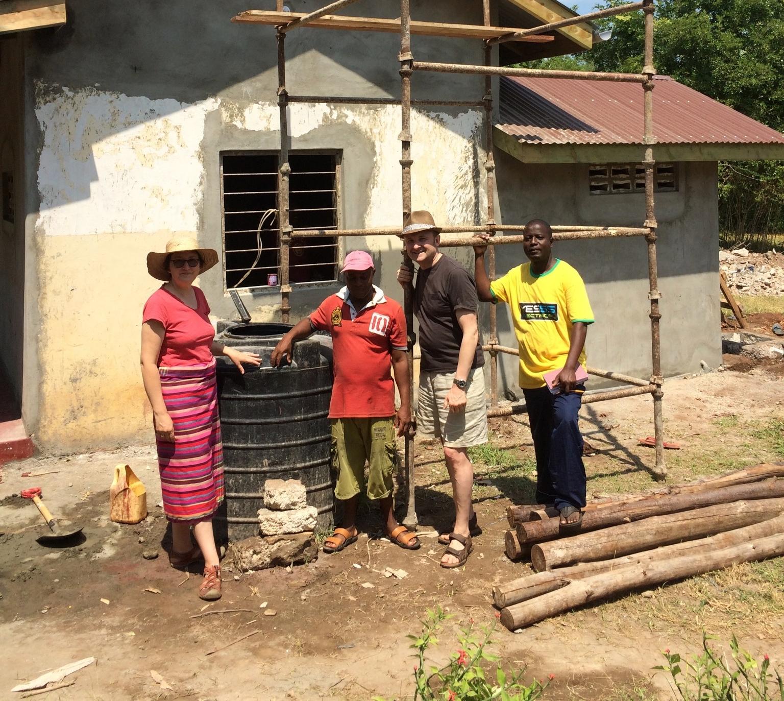 Ashley & Sara Peatfield, Co-Founders of Funzi Bodo working on a project.