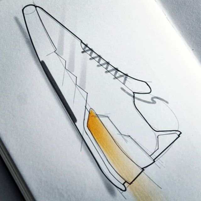 X adidas SBR - original sketch before trialling new tools at @adidas