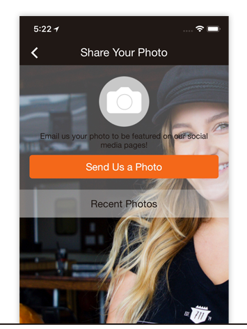 EMAIL PHOTO - Allow users to email photos/videos directly from the app that businesses can use on their own social media platforms.