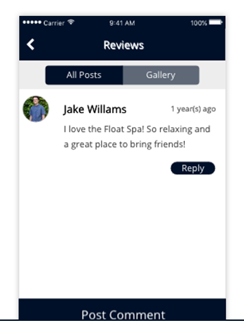 FAN WALL - Allow users to connect over their shared adoration for your business. Users are able to comment, ask questions, share photos, and discuss with other users what they love about your business or service.