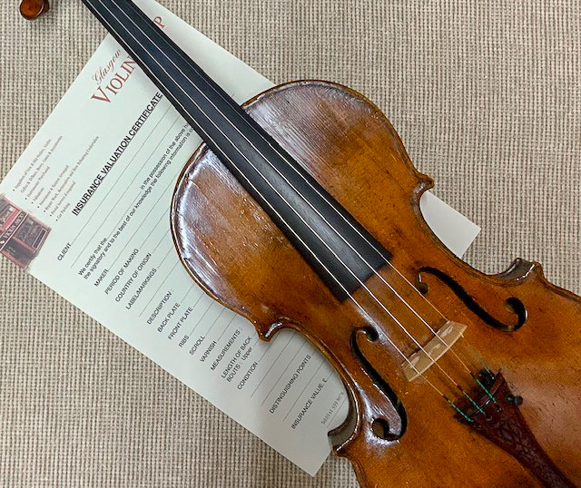 Valuations at Glasgow's Violin Shop