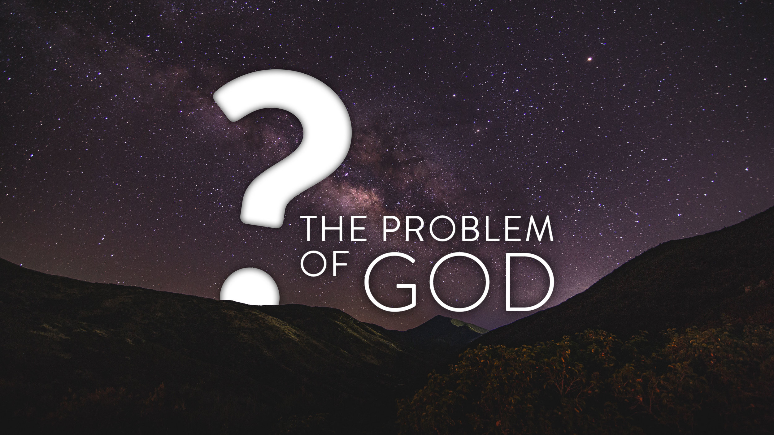 The Problem of God - 1. How do you know God exists?2. Are Science and Faith Compatible?3. Can the Bible be Trusted?4. Who is Jesus?5. Does God send people to hell?6. Is God Anti-Sex?7. Aren't Christians Hypocrites?8. How can Jesus be the only way to God?9. How Can God Allow Evil & Suffering?10. The Good Person Myth