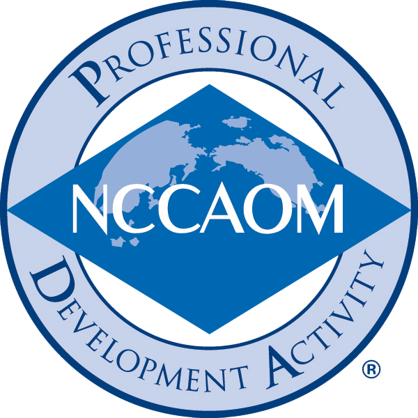 EVOLVING YOUR PRACTICE IS AN APPROVED NCCAOM PDA PROVIDER. offering CONTINUING EDUCATION FOR ACUPUNCTURISTS