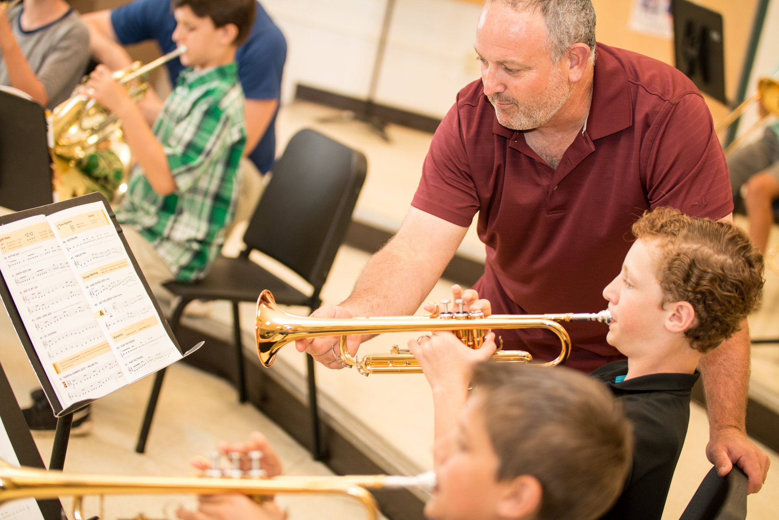Utilize all staff in rehearsal when possible.