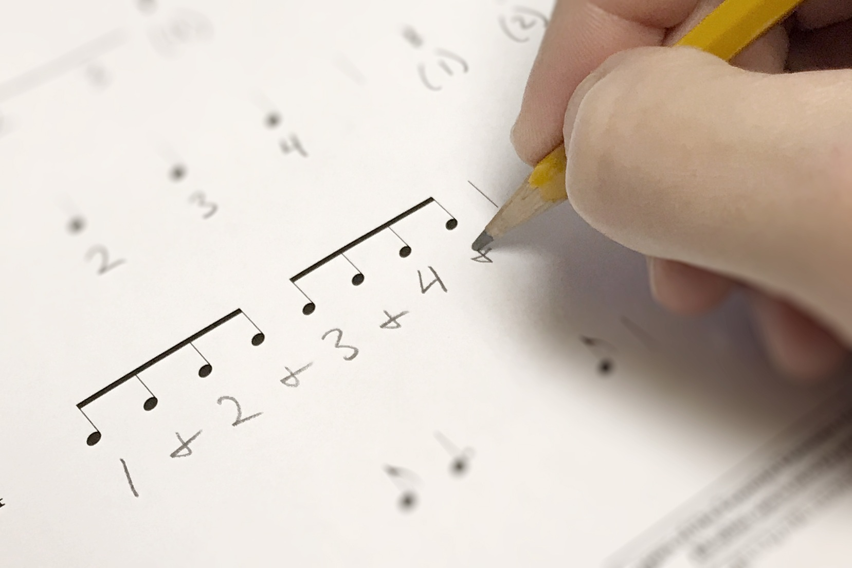 Rhythm Writing System - Writing the counts under the rhythms is a more concrete and visual way to help students understand how rhythms work together.