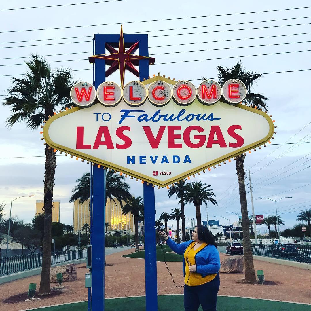 Sarah in Front of Vegas Sign.JPG