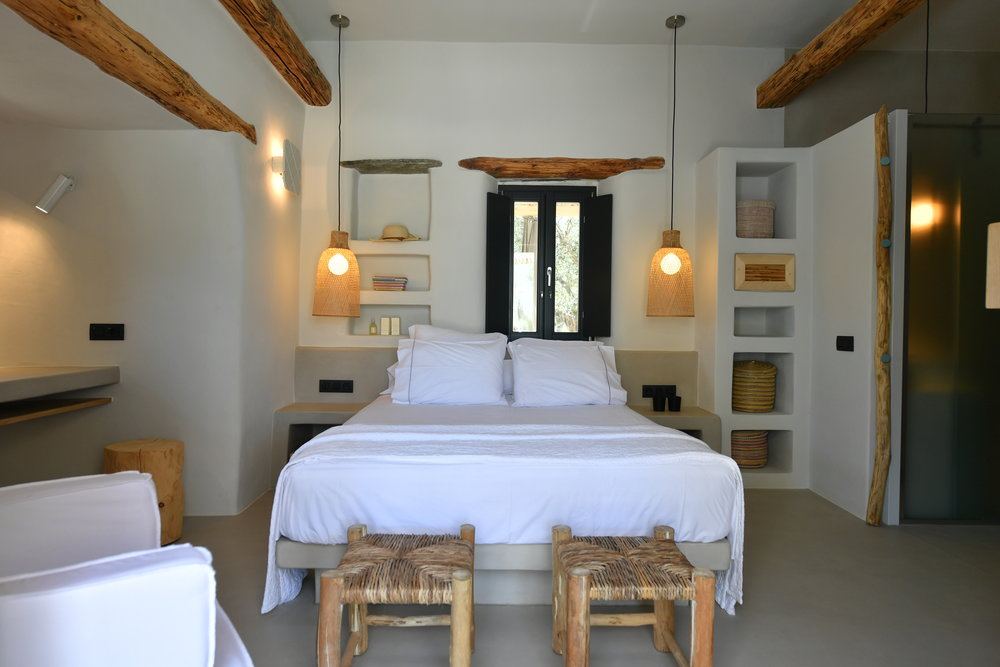 You can't achieve a greek island style interior without the use of natural materials.