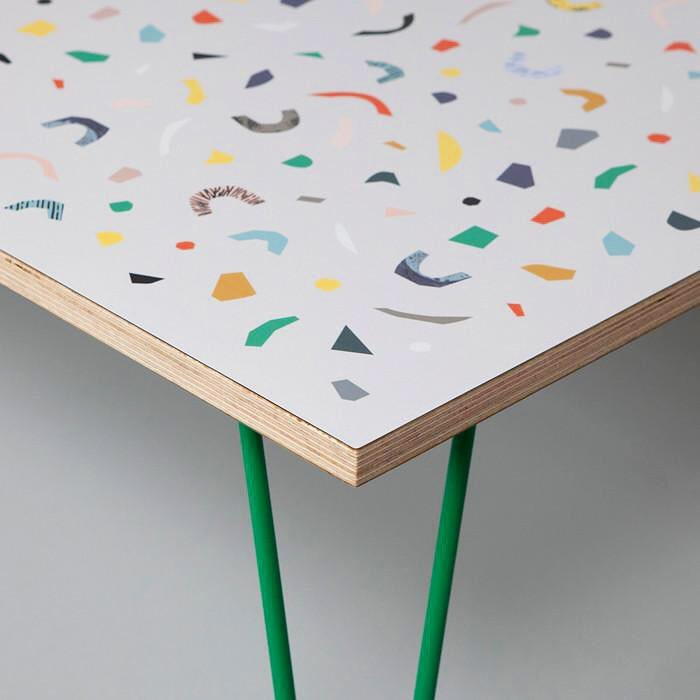 Multicolor terrazzo table