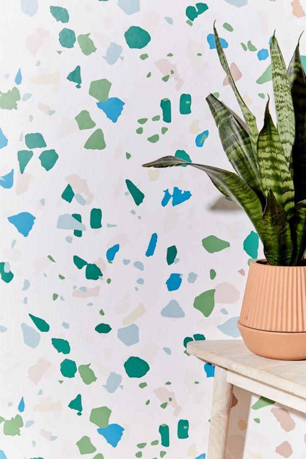 Removable terrazzo wallpaper