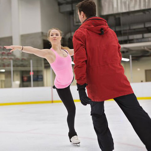 figure skater with coach