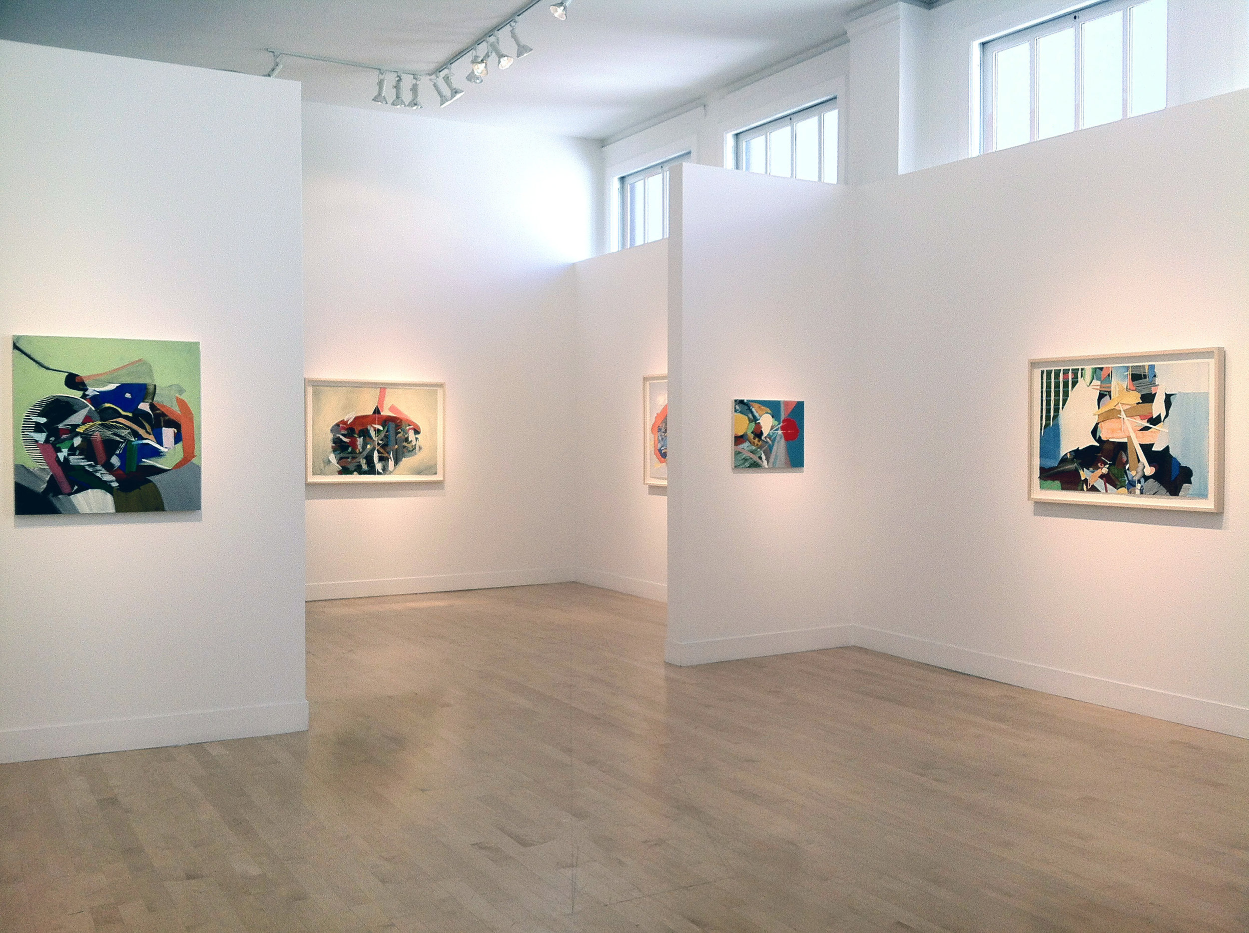 "Installation view, ""Skipping Over Damaged Area,"" Gregory Lind Gallery, San Francisco, 2012"
