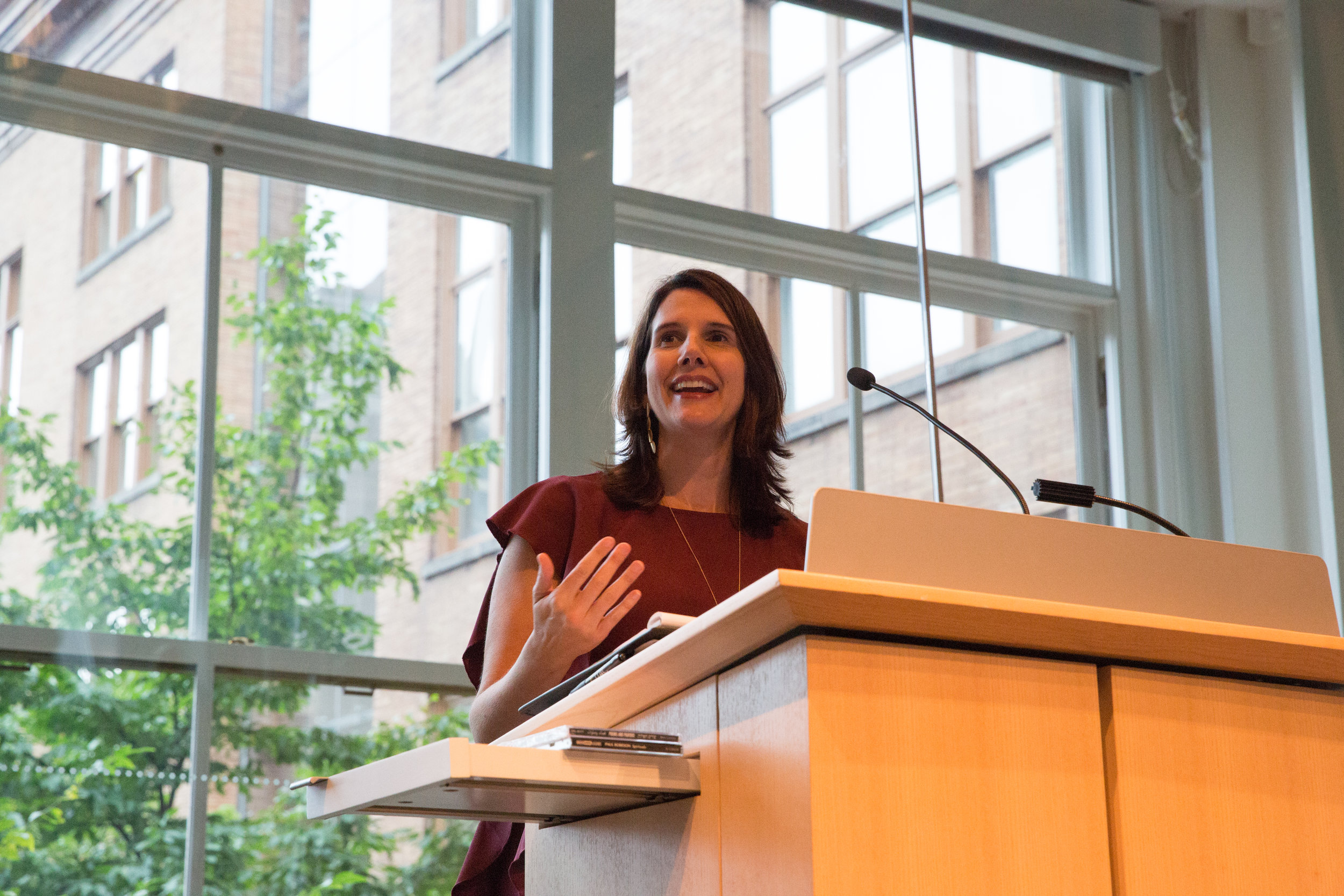 Speaking at the ITAC4 Conference. Photo by Reuben Radding.