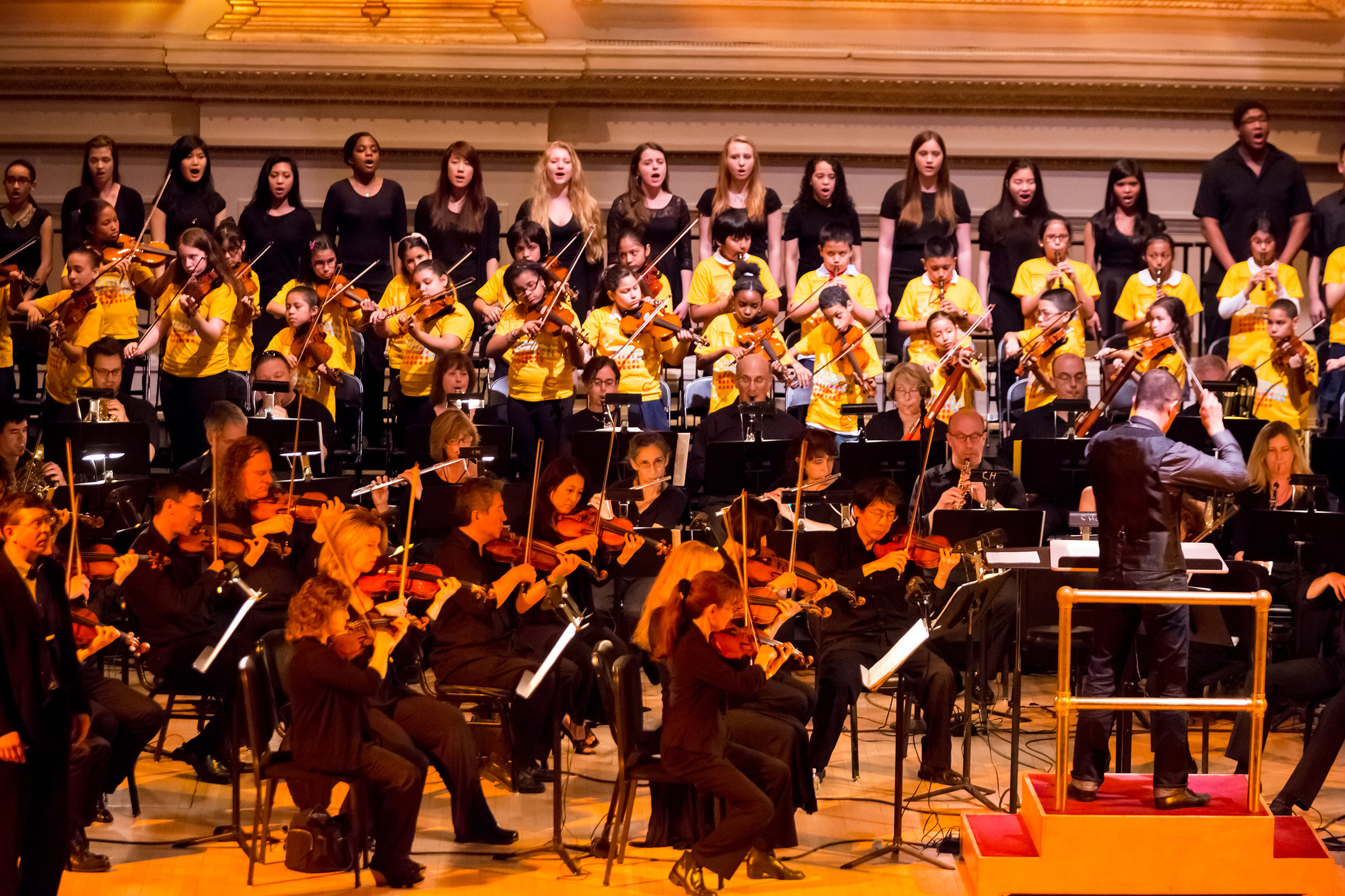 Link Up Concert at Carnegie Hall. Photo by Chris Lee.