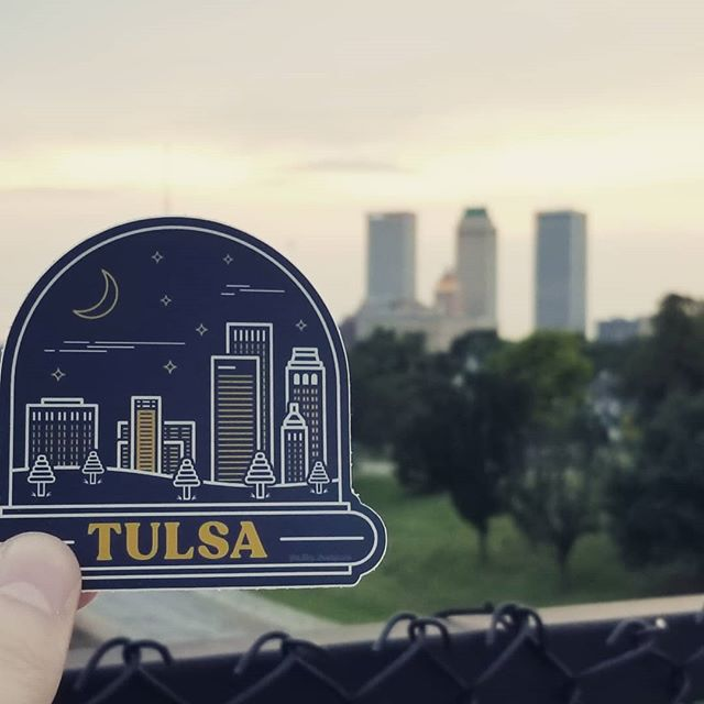 Honestly? It looks a tad unrealistic without a tornado in the background. . . . . #graphic #design #designs #graphicdesign #designer #logodesigner #tulsa #oklahoma #sticker #stickers #photography #art #artist #artwork #artistsoninstagram #vector #vectorart #illustration #illustrator #creative #designinspiration #cityskyline #skyline #tulsaskyline #lineart