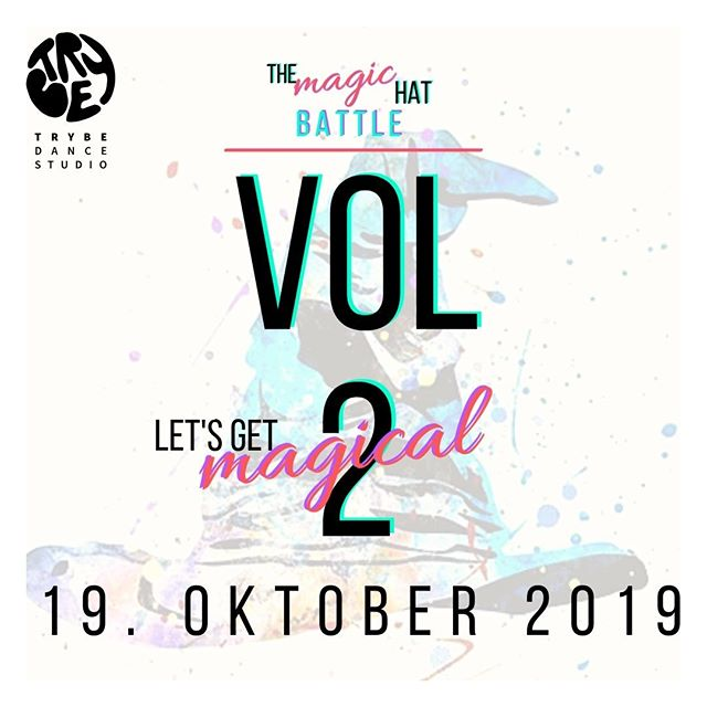 *** THE MAGIC HAT BATTLE ***⠀ VOL. 2 Let's get magical⠀ °⠀ INSCRIPTIONS ARE OPEN!⠀ °⠀ Dancer must inscribe until 18th of October midnight and receive a like from us!⠀ Make sure you check in at the venue until 16:45 h otherwise your spot will be lost!⠀ No partner yet? Inscribe solo for a BLIND DATE!⠀ °⠀ THE MAGIC HAT BATTLE is a 2vs2 all style battle, where the Magic Hat will give you a theme that you have to respect during your round. Dancers can decide if they join the round as solo or duo.⠀⠀⠀ Themes are inspired by all dance styles as well as situations, moods and games.⠀⠀⠀ You never know what the Magic Hat determines for you.⠀⠀⠀ °⠀⠀⠀ THE MAGIC HAT BATTLE⠀⠀⠀ 19th October 2019 - 17:00 H ⠀⠀⠀ AFTER PARTY at Badehaus - REJOICE⠀⠀ 20th October 2019 - 17:00 warm-up workshop - 18:00 party ⠀⠀ °⠀⠀⠀ We will make you dance,⠀⠀⠀ Your Trybe⠀⠀⠀ ⠀⠀ #trybe #dance #studio #berlin #battle #party #dancebattle #dancer #dancersofig #hiphop #breakdance #breaking #house #music #funk #soul #jazz #contemporary #ballet #locking #popping #newschool #oldschool #trueschool #rejoice #themagichat #magic #magical #badehaus