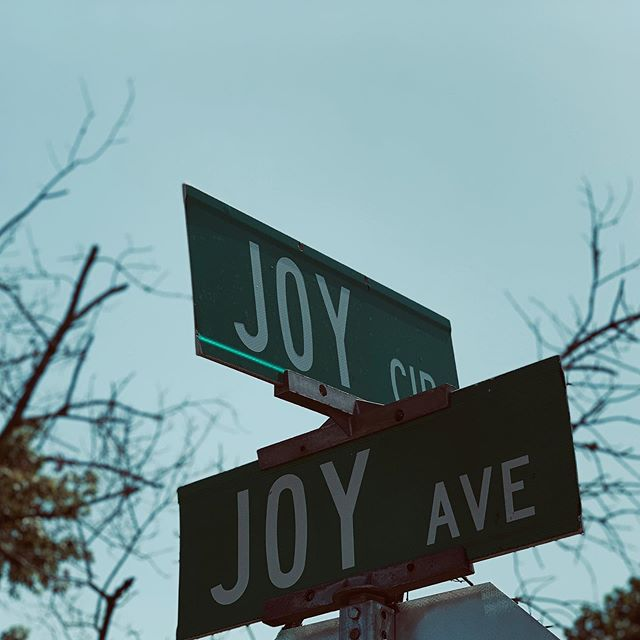 """Signs of JOY...  Just can't get any better when it it comes to streets signs, reminding me of the wonder of this word. Like a firefly on a summer evening or a smile on the face of a friend.  """"A joyful heart is good medicine..."""" Proverbs 17:22    #joyisrad #wheresthejoy #signsofjoy #joyhasaname #thiswasrad #surprisesurprise #joy #whatamoment"""