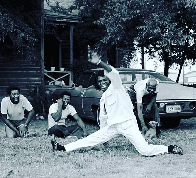 "To set the Monday mood, repeat after James... ""I feel good!"" @harrybensoncbe  #jamesbrown #augustaga #1979 #ifeelgood"
