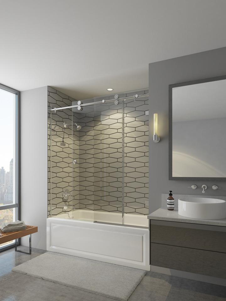 Contractor's wardrobe shower enclosures