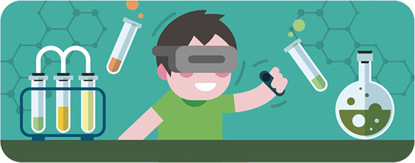 Active participation   Class will be passive experience only like learning video, images, etc. However, VR makes students participate actively like they use eyes and hands.