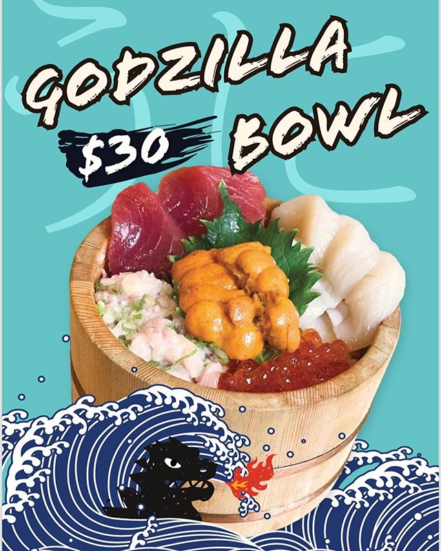 If Chirashi isn't extravagant enough for you, then you must order our Godzilla Bowl! Filled with premium cuts and you will instantly fall in love. #pikemarket#japanesefood#seattlefood#seattlefoodie#seattlefoodies#chirashi#sushibowl