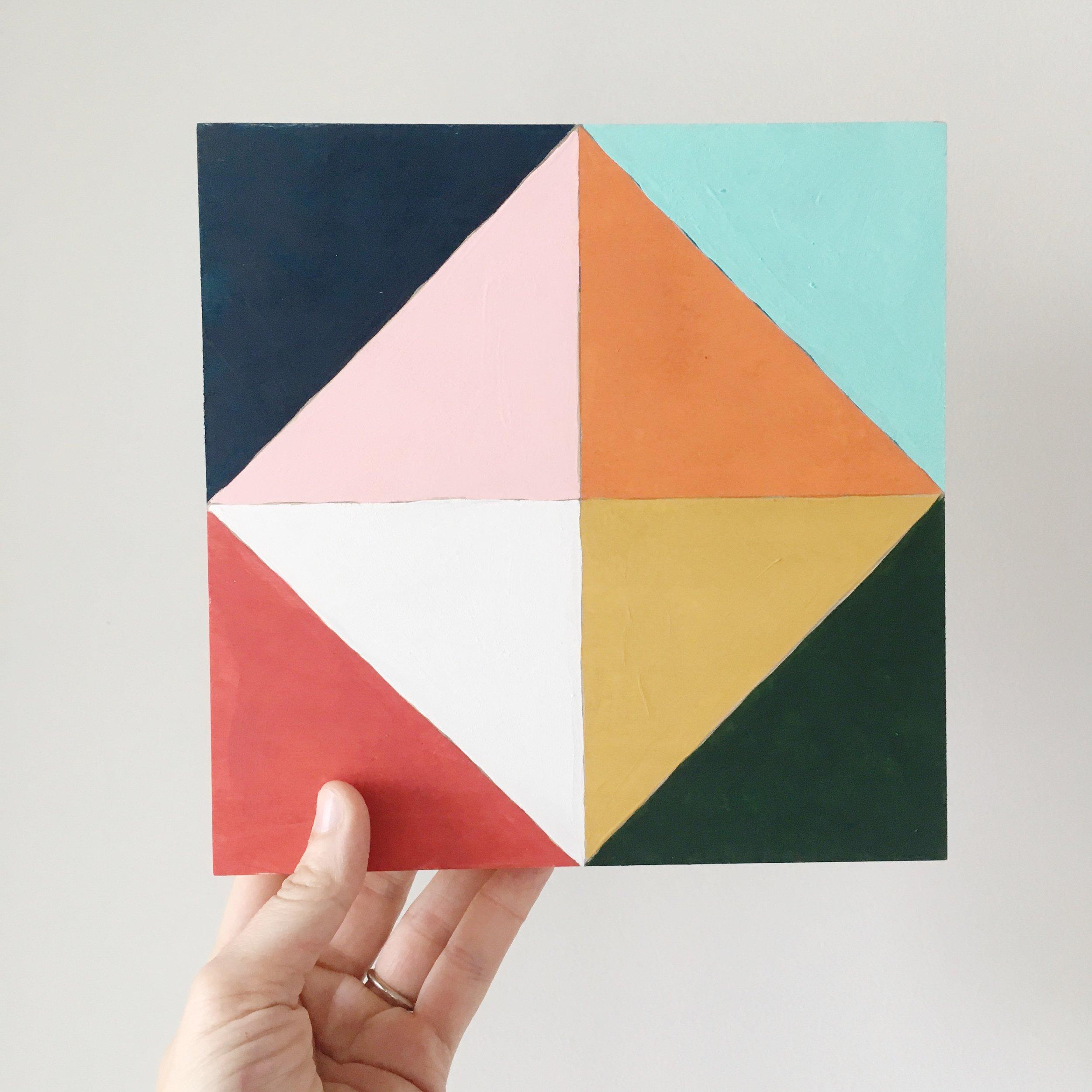 brooke petermann half square triangle painting.JPG