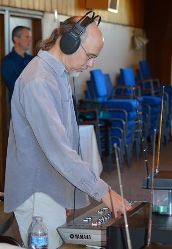 Man at Sound Mixer