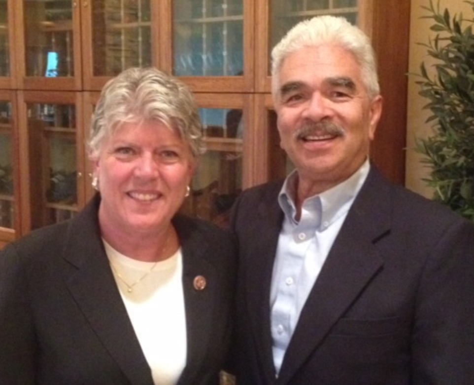 Washington DC - David has worked with, and has been a Professor to Legislators at all levels of govenment including City, State and FederalPictured are David and Congresswoman Julia Brownley