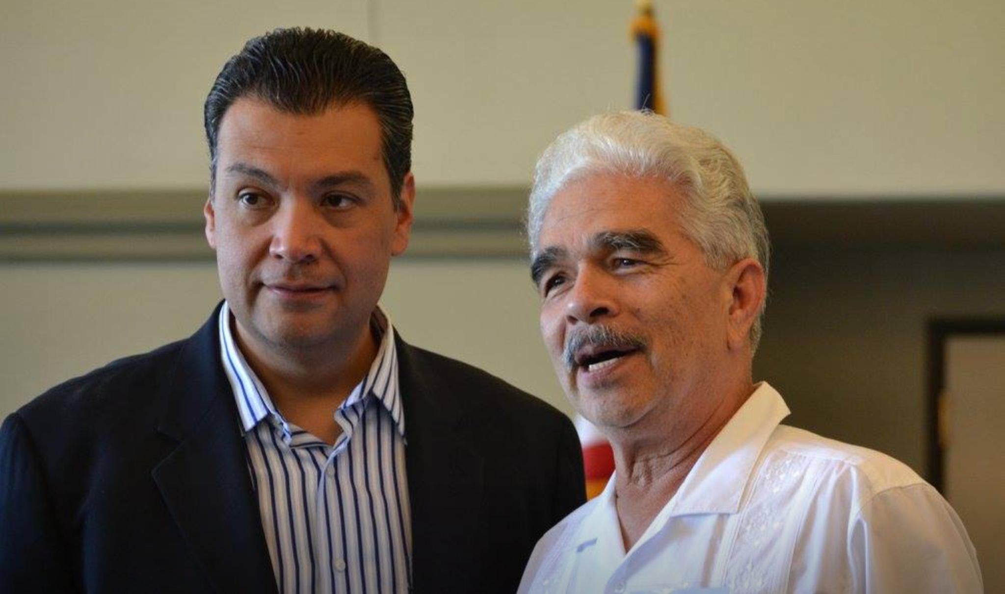 Sacramento - Pictured are David and Alex Padilla, California Secretary of State