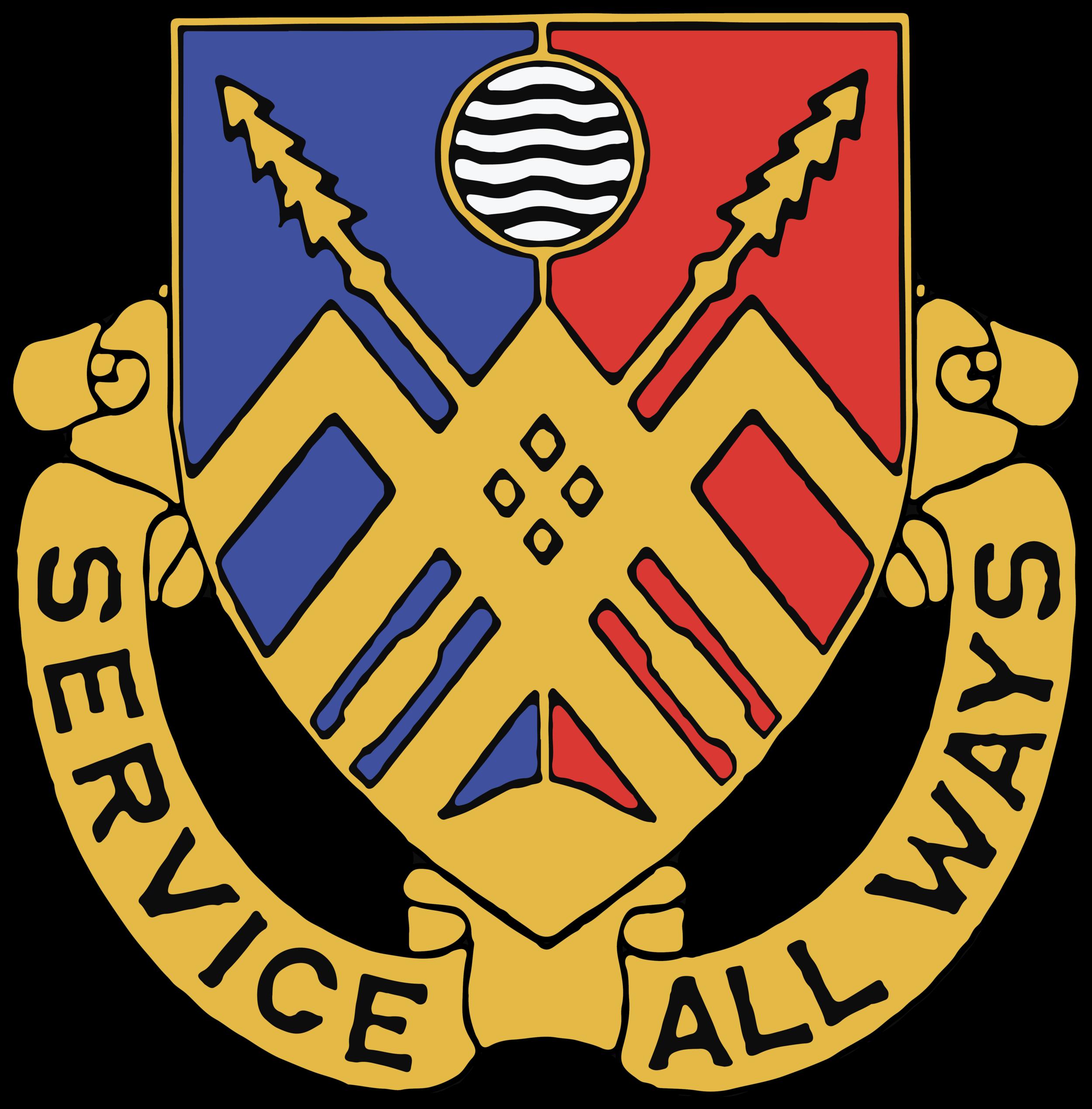 "29th Brigade Support Battalion (BSB) Logo. ""Service All Ways"""