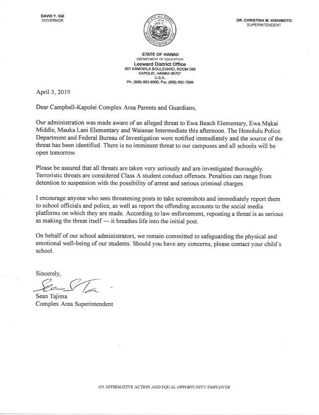 2019.04.03 Letter from CAS Tajima