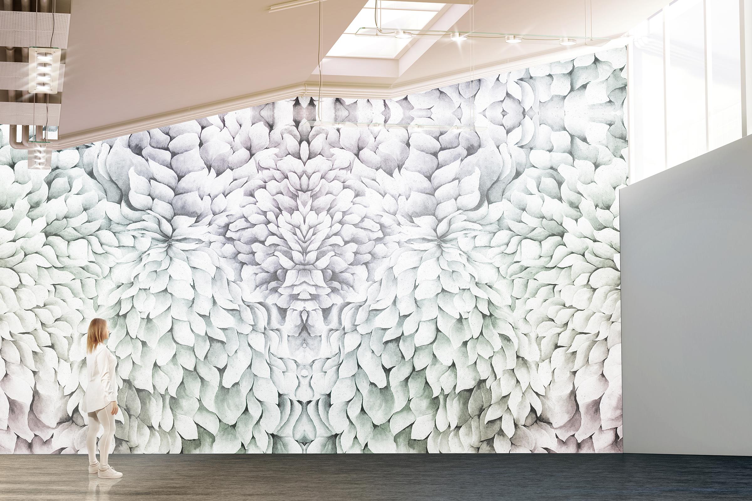 Bespoke Chrysanthemum Wall Papers -
