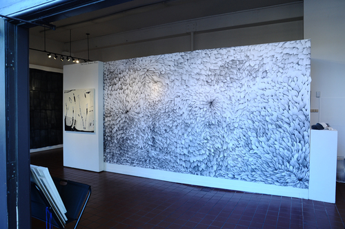 Chrysanthemum 14.5'x9' Installed at the Santa Barbara Arts Fund