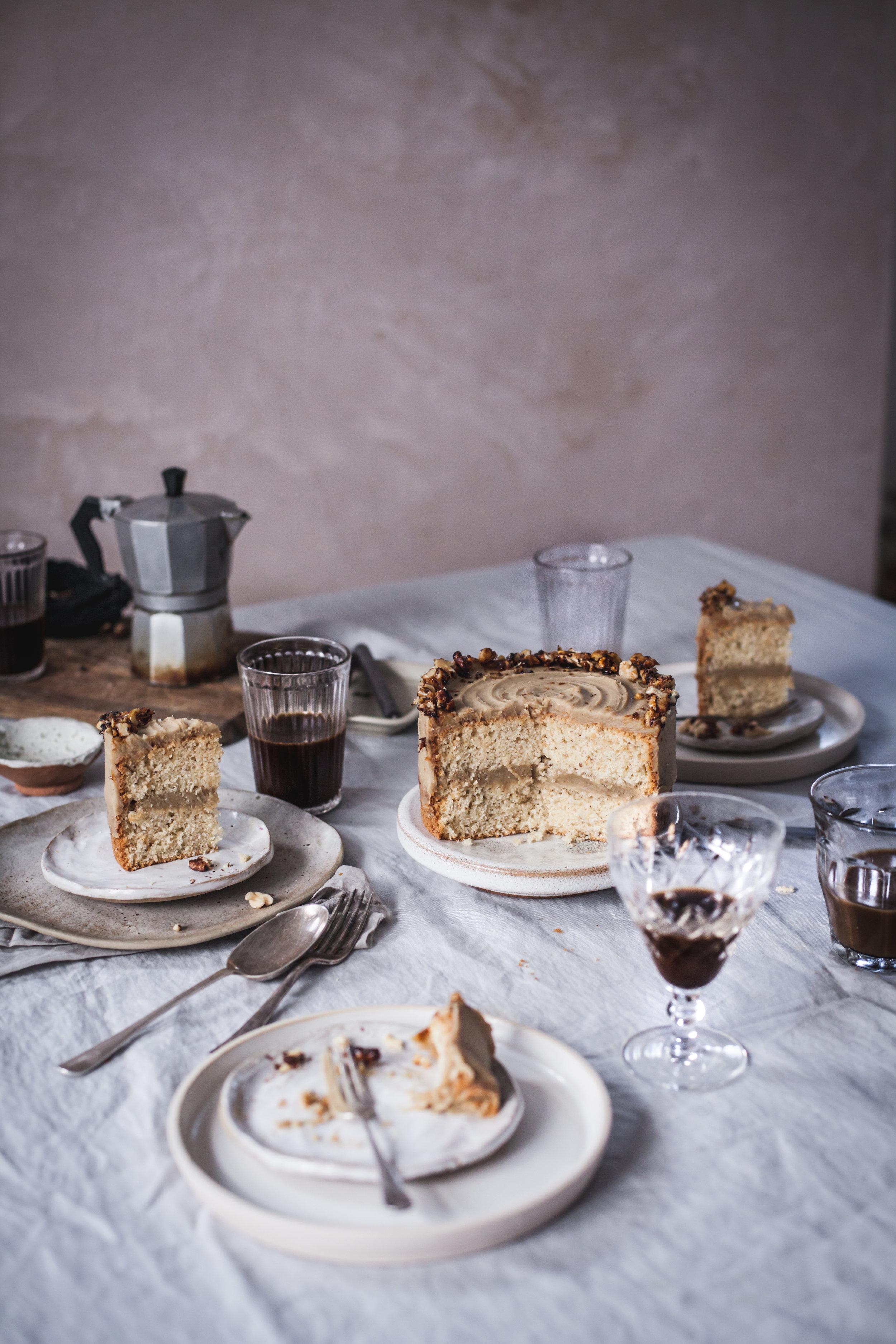 ... caramelised walnut and chestnut cake ... #recipes #vegan