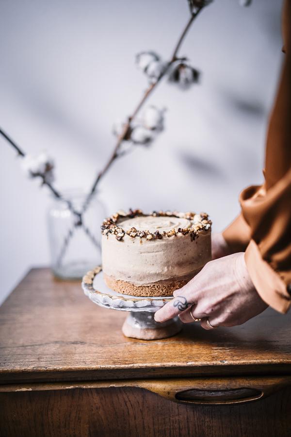 ... caramelized walnut and chestnut cake ... #vegan #recipes