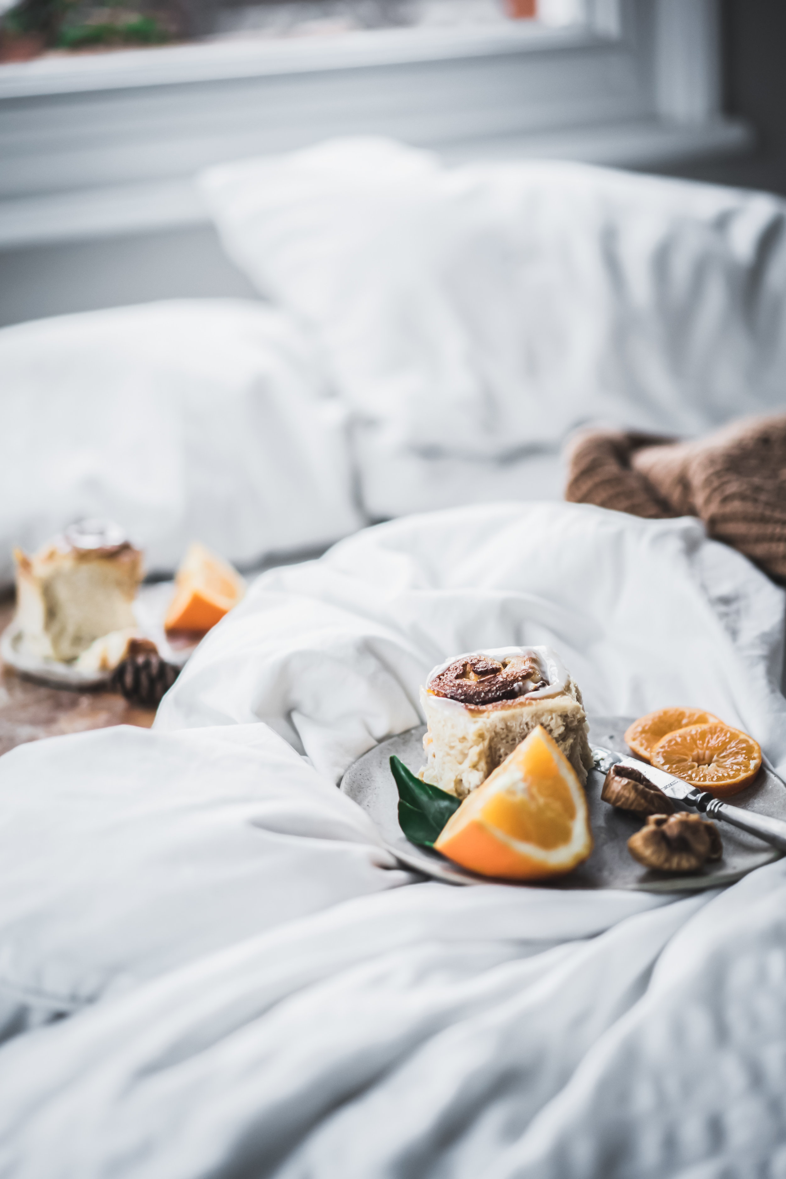 vegan orange buns and lazy Christmas in bed