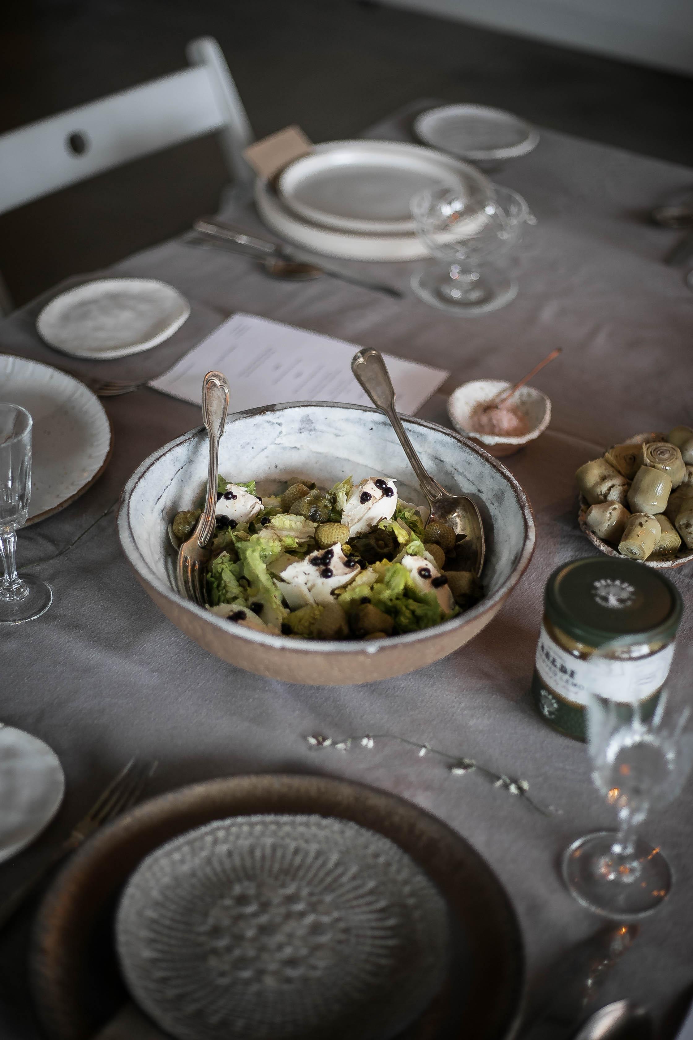 table setting food | @aslowgathering